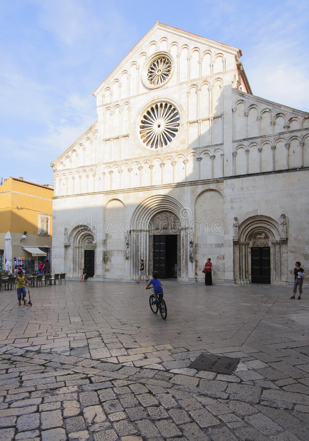 Kathedraal van heilige Anastasia zadar Dalmatië Kroatië Europa stock afbeeldingen