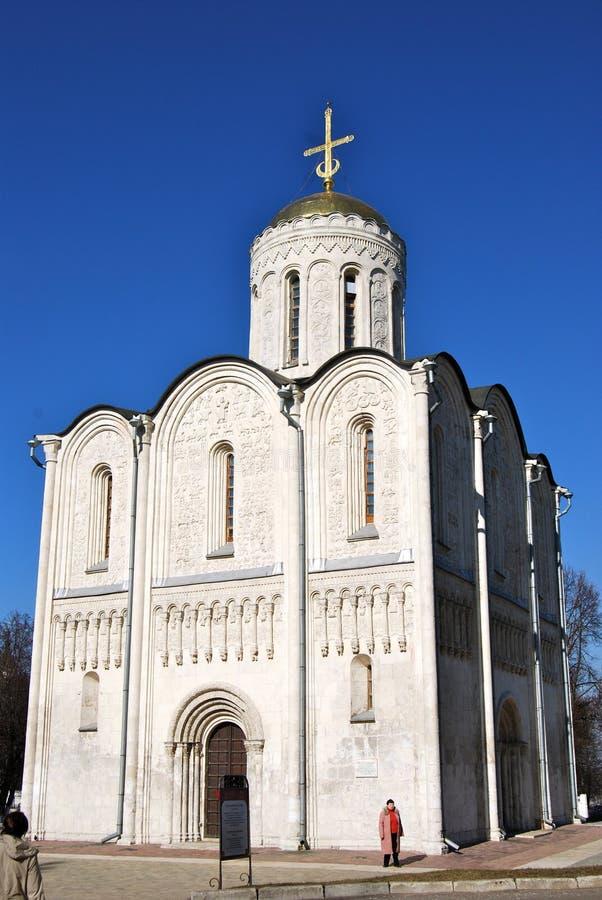 Kathedraal van Heilige Demetrius, Vladimir, Rusland stock afbeeldingen