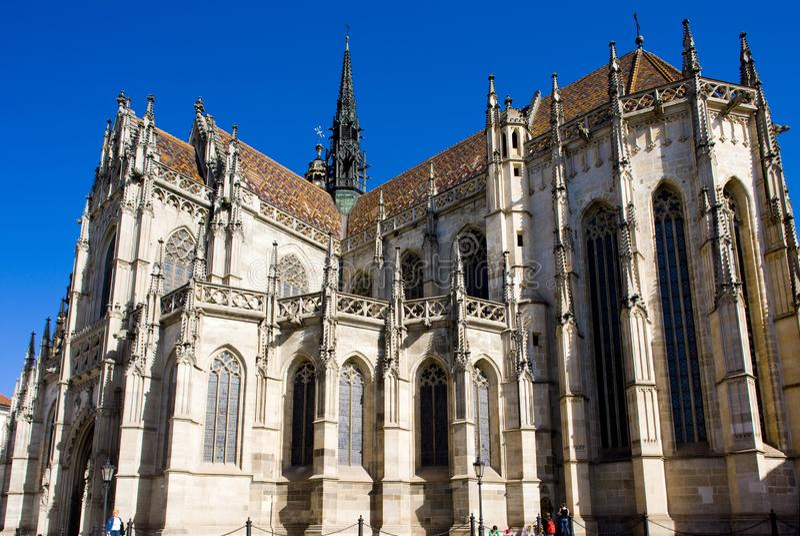 Kathedraal van Heilige Elizabeth, Kosice, Slowakije royalty-vrije stock afbeelding
