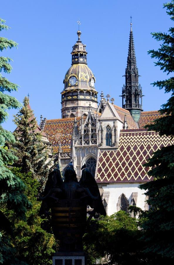 Kathedraal van Heilige Elizabeth, Kosice, Slowakije stock foto's