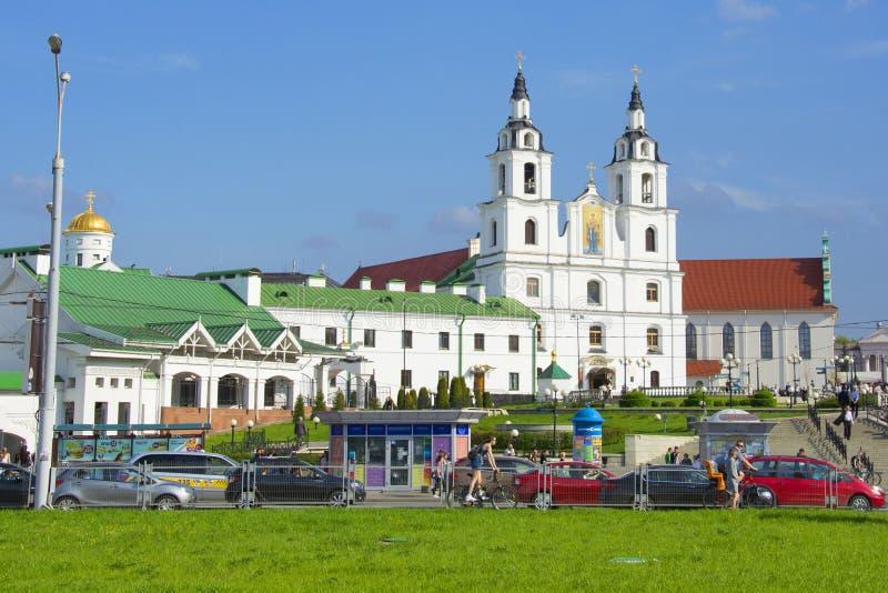 Kathedraal van Heilige Geest - hoofd Orthodoxe kerk van Minsk royalty-vrije stock foto's