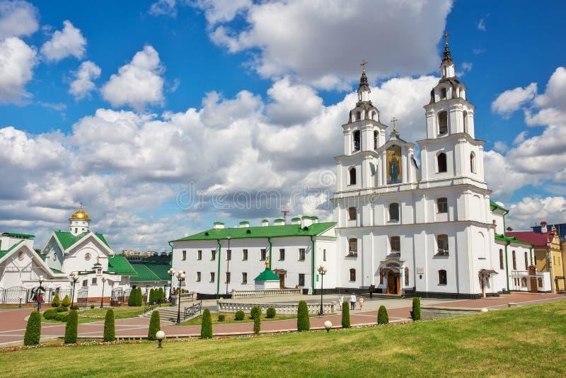 Kathedraal van Heilige Geest in Minsk stock afbeeldingen