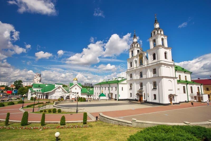 Kathedraal van Heilige Geest in Minsk stock foto