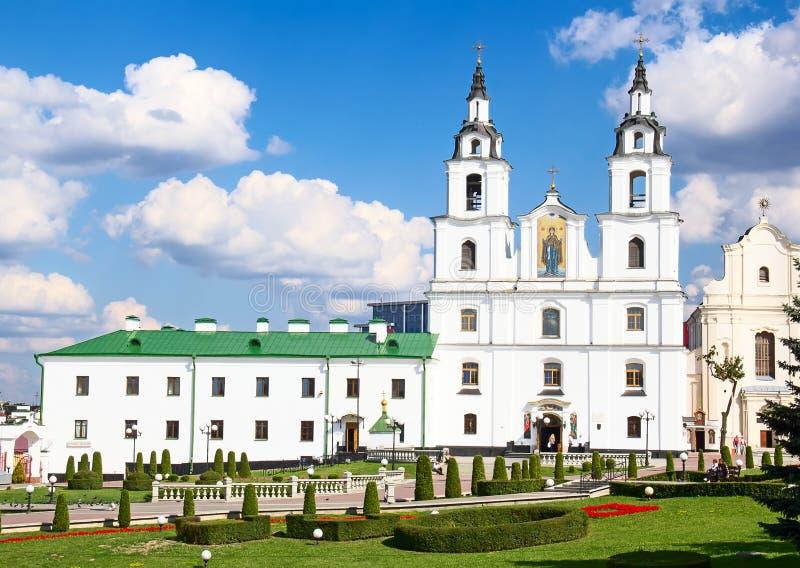 Kathedraal van Heilige Geest in Minsk, Wit-Rusland stock afbeeldingen