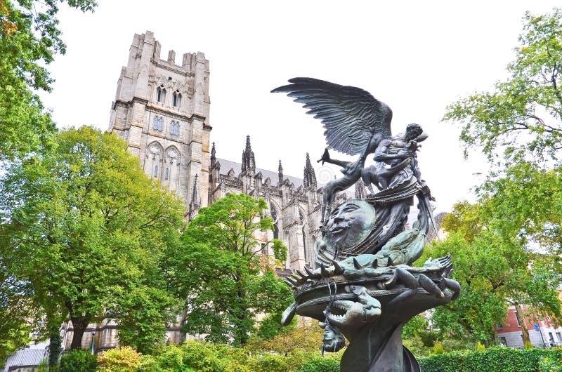Kathedraal van Heilige John Goddelijk in de Stad van New York royalty-vrije stock fotografie