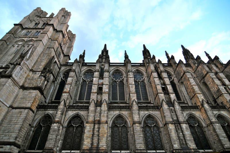 Kathedraal van Heilige John Goddelijk in Morningside-Hoogten, NYC royalty-vrije stock foto's