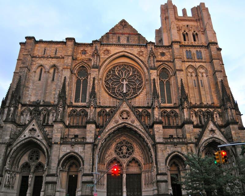 Kathedraal van Heilige John Goddelijk in Morningside-Hoogten, NYC stock fotografie