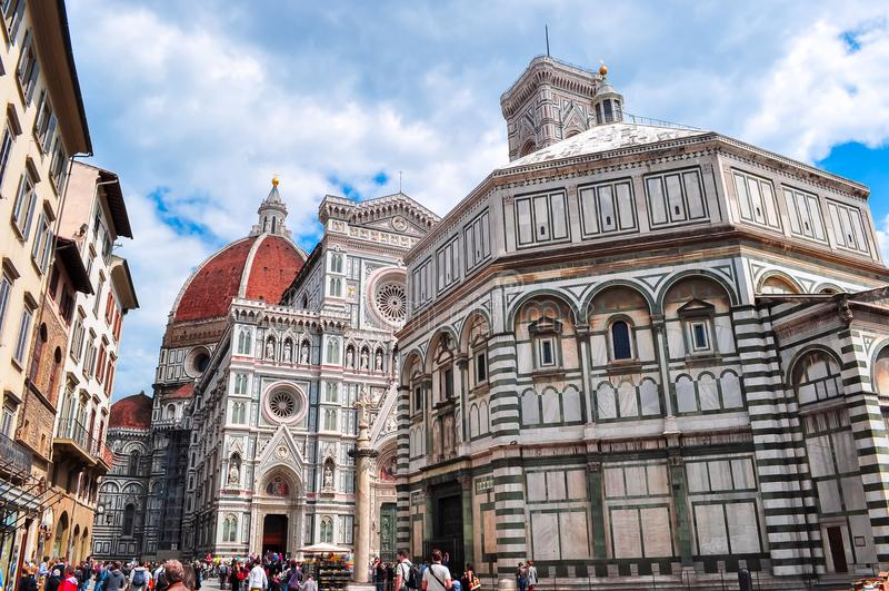 Kathedraal van Heilige Mary van Di Santa Maria del Fiore of Duomo Di Firenze, Florence, Italië van Bloemcattedrale royalty-vrije stock fotografie