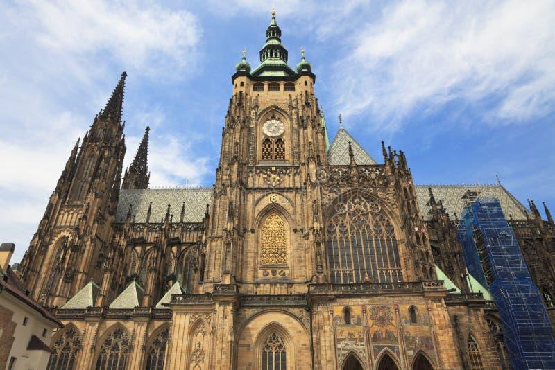 Kathedraal van Heilige Vitus, Praag, Tsjechische Republiek. stock foto's