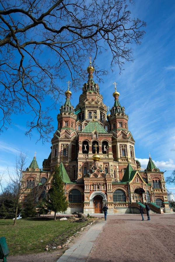 Kathedraal van Heiligen Peter en Paul Peterhof - Heilige Petersburg, Rusland royalty-vrije stock afbeeldingen