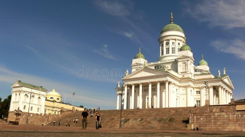 Kathedraal van Helsinki stock foto's