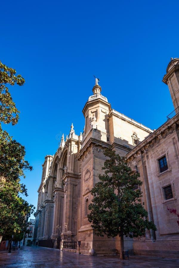 Kathedraal van Incarnatie in de stad van Granada Andalusia, Spanje stock foto