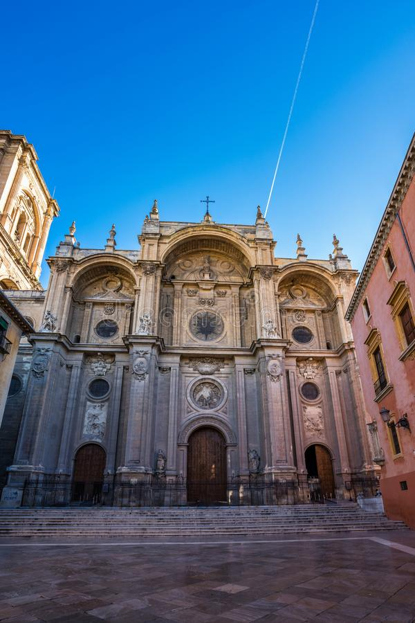 Kathedraal van Incarnatie in de stad van Granada Andalusia, Spanje stock afbeelding
