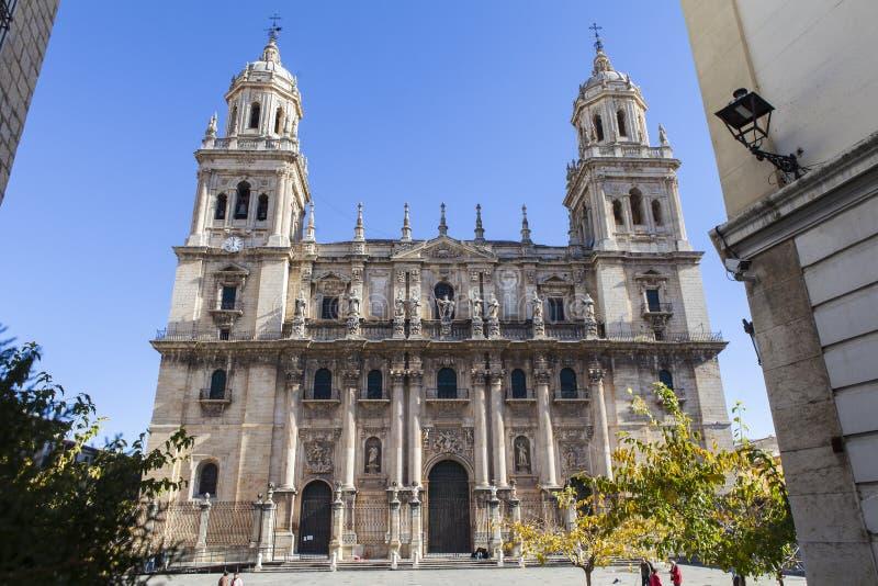 Kathedraal van Jaen, Spanje royalty-vrije stock foto