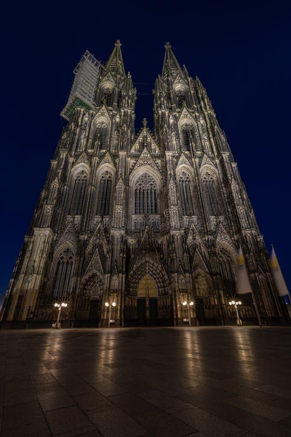 Kathedraal van Keulen, monument voor het Duitse katholicisme en de Gothische architectuur in Keulen, Duitsland stock fotografie