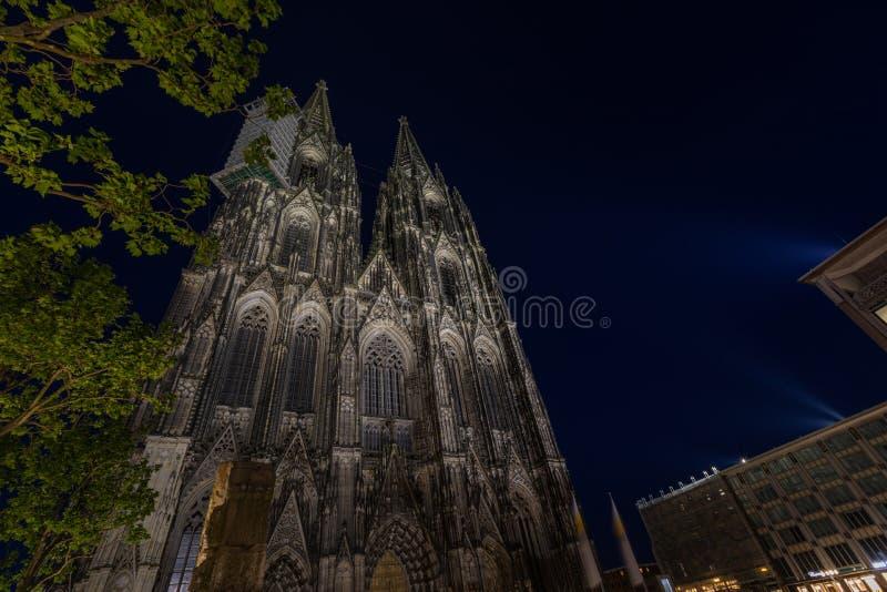 Kathedraal van Keulen, monument voor het Duitse katholicisme en de Gothische architectuur in Keulen, Duitsland royalty-vrije stock foto