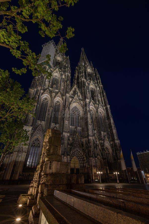 Kathedraal van Keulen, monument voor het Duitse katholicisme en de Gothische architectuur in Keulen, Duitsland stock afbeelding