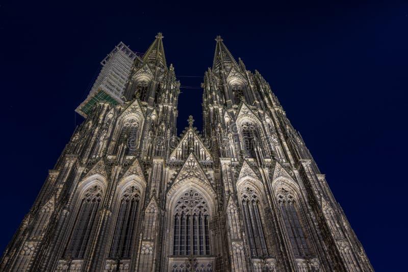 Kathedraal van Keulen, monument voor het Duitse katholicisme en de Gothische architectuur in Keulen, Duitsland stock foto