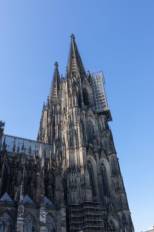 Kathedraal van Keulen, monument voor het Duitse katholicisme en de Gothische architectuur in Keulen, Duitsland royalty-vrije stock afbeeldingen