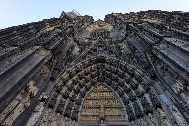 Kathedraal van Keulen, monument voor het Duitse katholicisme en de Gothische architectuur in Keulen, Duitsland stock afbeeldingen