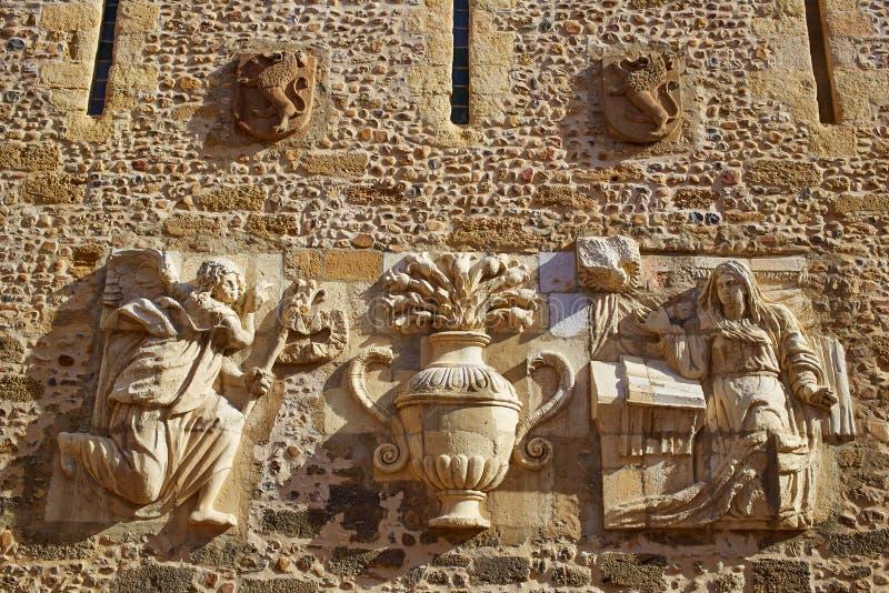 Kathedraal van Leon in Castilla in Spanje stock fotografie