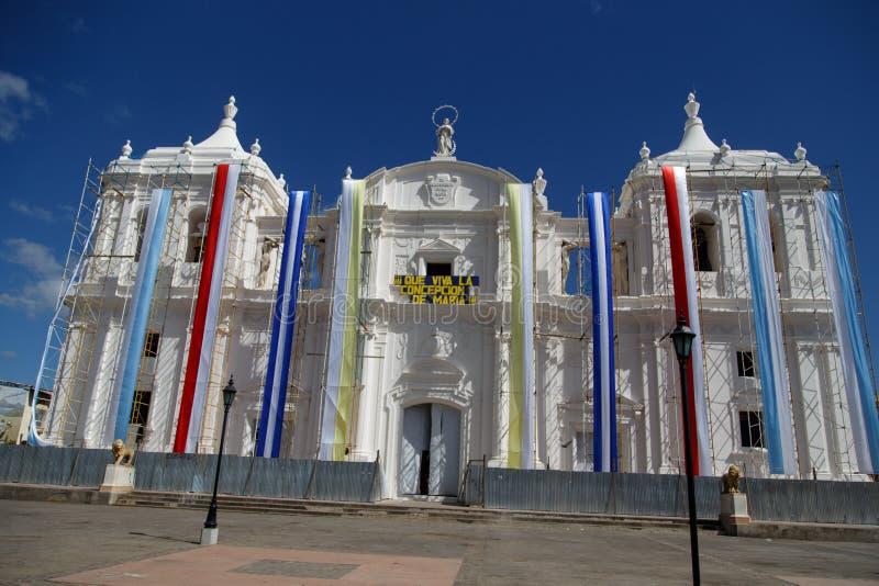 Kathedraal van Leon in Nicaragua stock afbeeldingen