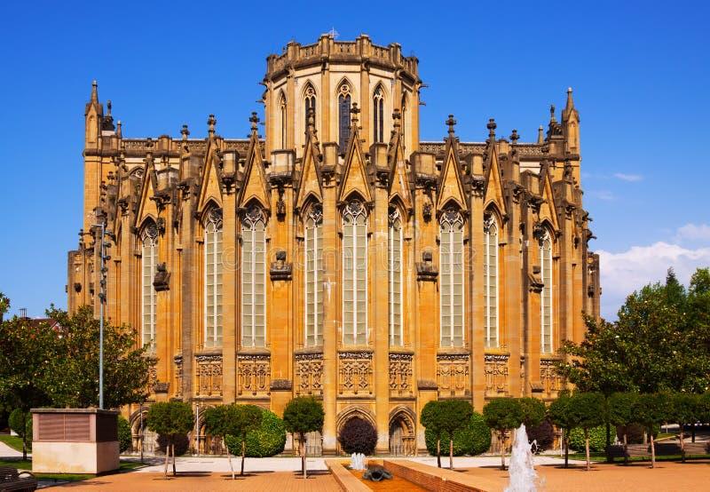 Kathedraal van Mary Immaculate Vitoria-Gasteiz stock afbeelding