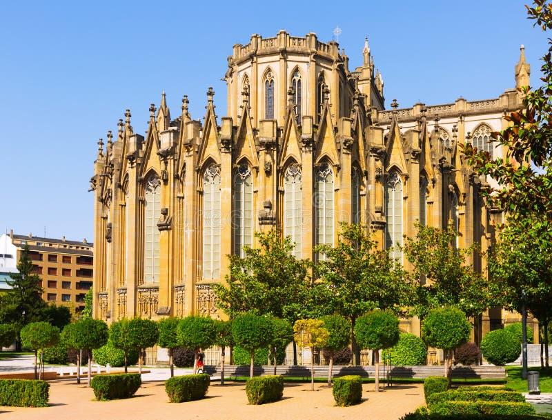 Kathedraal van Mary Immaculate Vitoria-Gasteiz, Spanje royalty-vrije stock foto