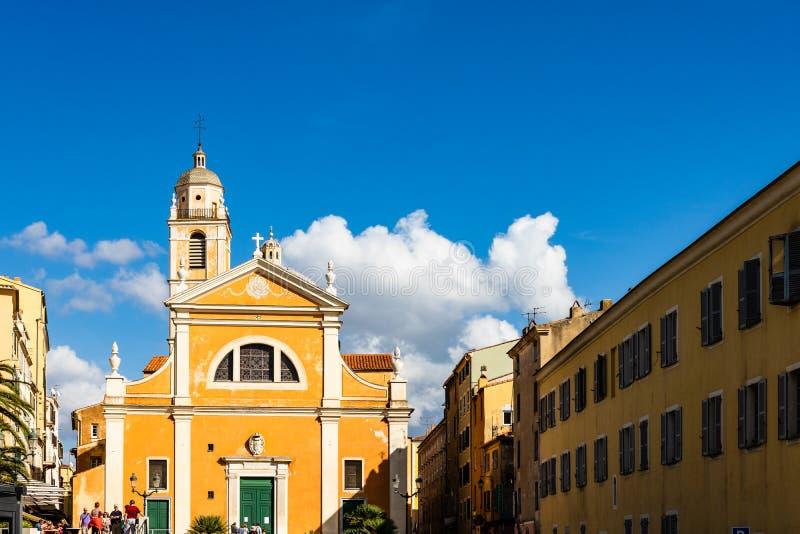 Kathedraal van Onze Dame van de Veronderstelling Ajaccio, Corsica, Frankrijk royalty-vrije stock foto