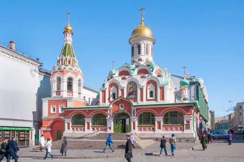 Kathedraal van Onze Dame van Kazan, in Moskou, Rusland royalty-vrije stock fotografie