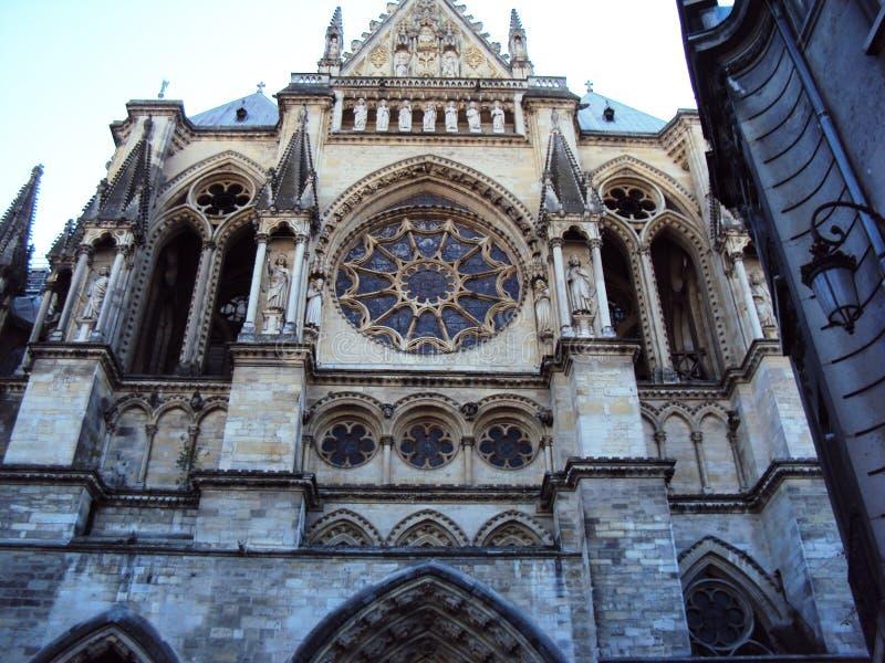 Kathedraal van Onze Dame van Reims stock foto's