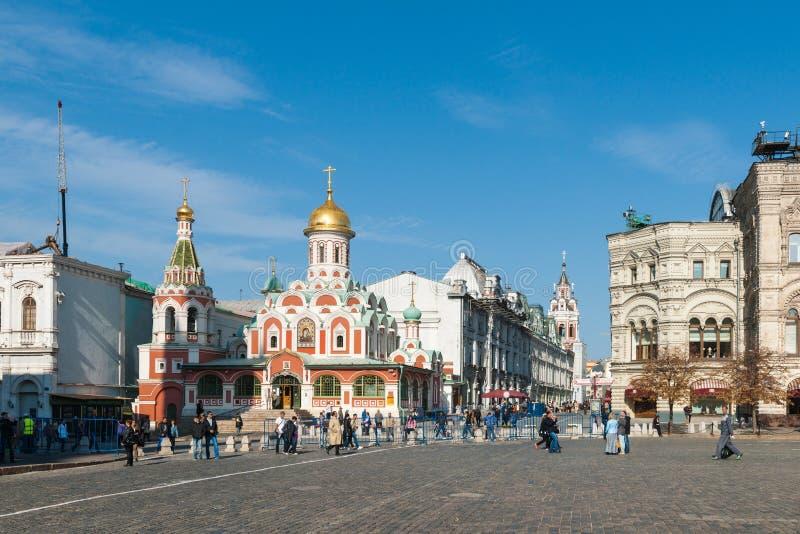 Kathedraal van Onze Dame van Kazan door het Rode Vierkant stock fotografie