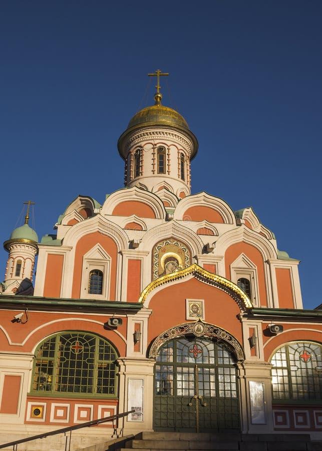 Kathedraal van Onze Dame van Kazan op het Rode Vierkant in Moskou, Russ royalty-vrije stock foto's