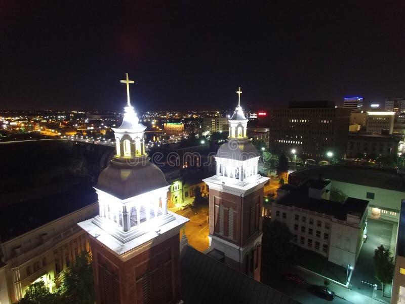 Kathedraal van Onze Dame van Lourdes stock foto's