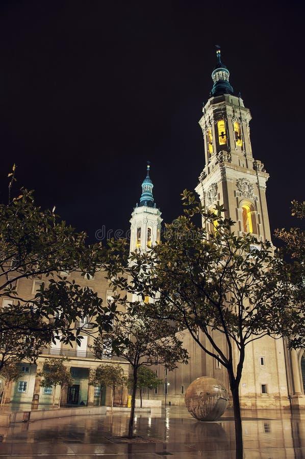 Kathedraal van Onze Dame van Pijler in Saragossa royalty-vrije stock foto