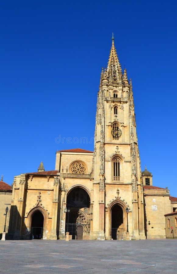 Kathedraal van Oviedo stock fotografie