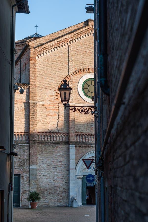 Kathedraal van Pesaro stock fotografie