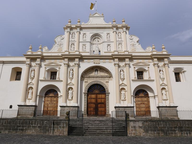 Kathedraal van San Jose in Antigua, Guatemala stock afbeeldingen