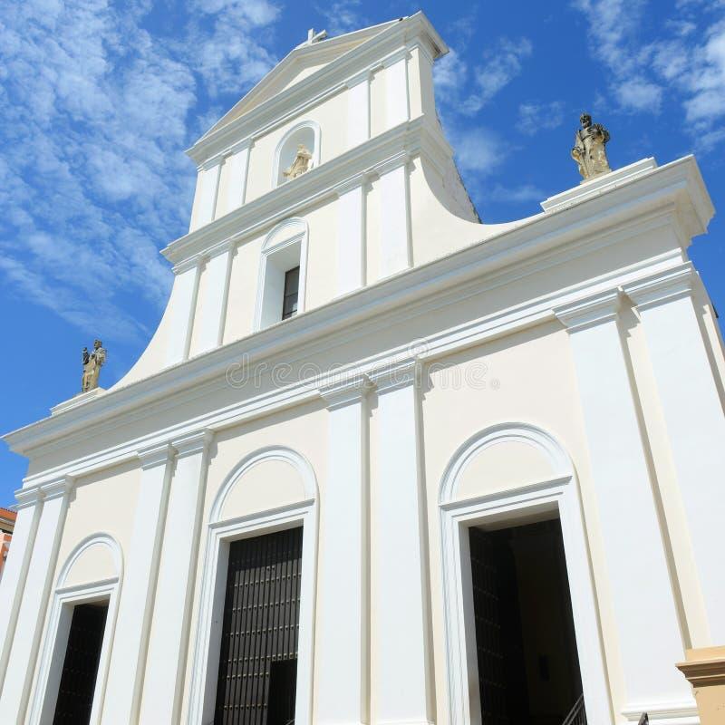 Kathedraal van San Juan Bautista, San Juan, Puerto Rico royalty-vrije stock afbeeldingen