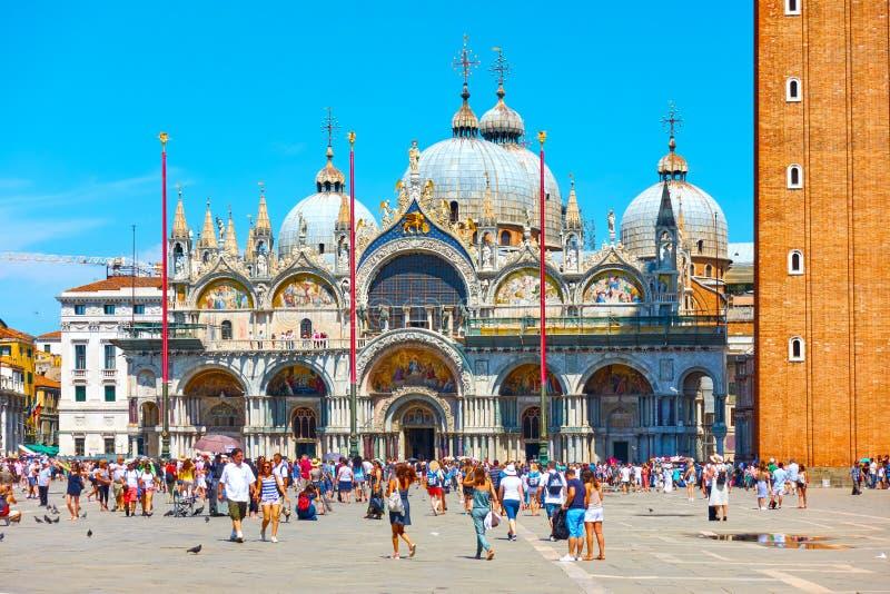 Kathedraal van San Marco in Venetië stock afbeeldingen