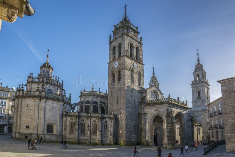 Kathedraal van Santa Maria in Lugo, Galicië, Spanje royalty-vrije stock foto's