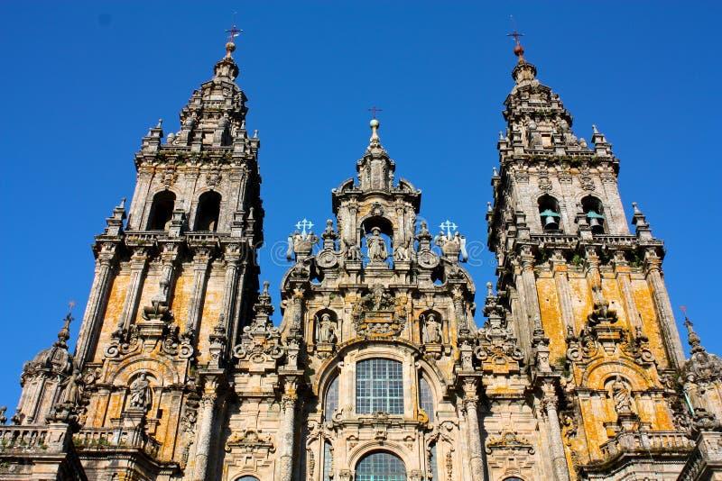 Kathedraal van Santiago DE Compostela stock afbeeldingen
