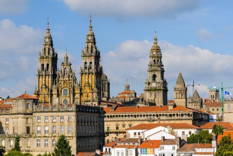 Kathedraal van Santiago DE Compostela stock foto's
