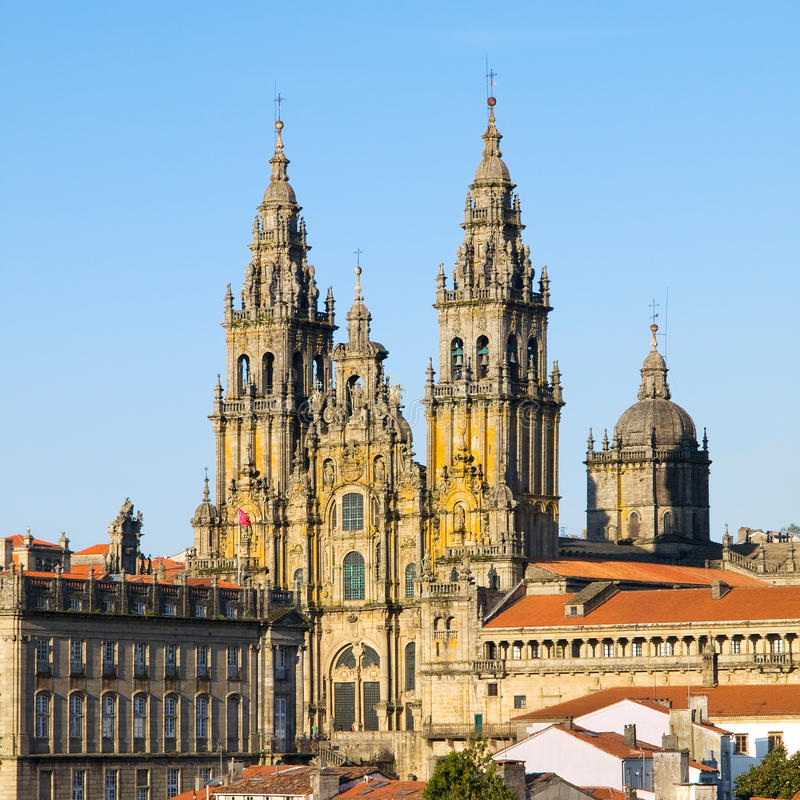Kathedraal van Santiago DE Compostela stock foto