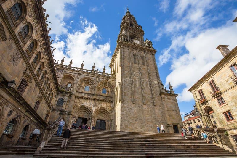 Kathedraal van Santiago de Compostela in Santiago de Compostela, Spanje royalty-vrije stock foto
