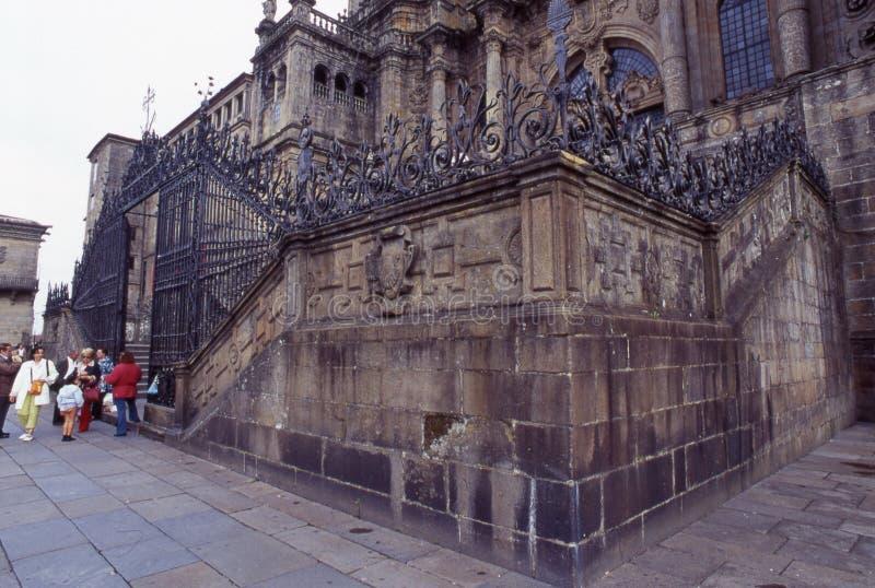 Kathedraal van Santiago de Compostella stock afbeelding