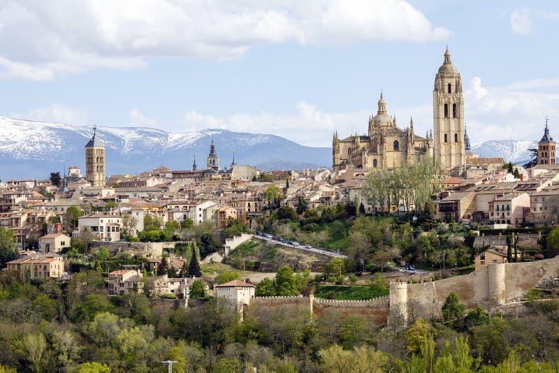 Kathedraal van Segovia stock foto's