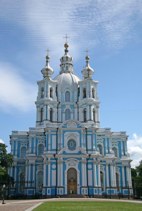 Kathedraal van Smolny-Klooster ST Petersburg, Rusland royalty-vrije stock afbeeldingen