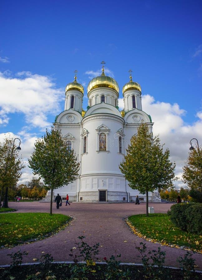 Kathedraal van St Catherine bij Pushkin-Stad royalty-vrije stock fotografie