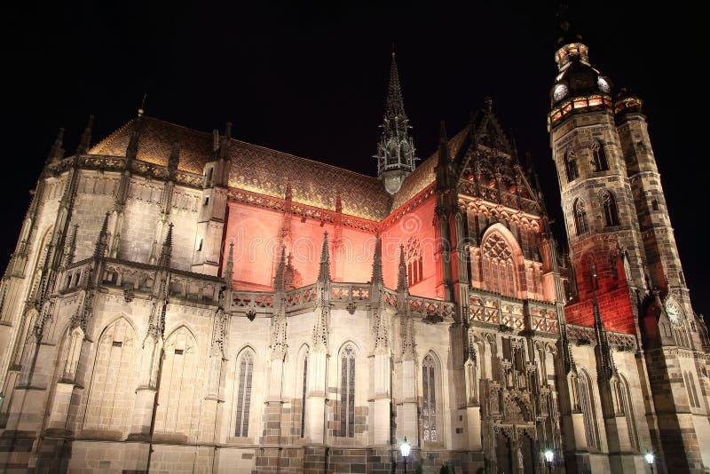 Kathedraal van St Elisabeth in Kosice, Slowakije stock foto